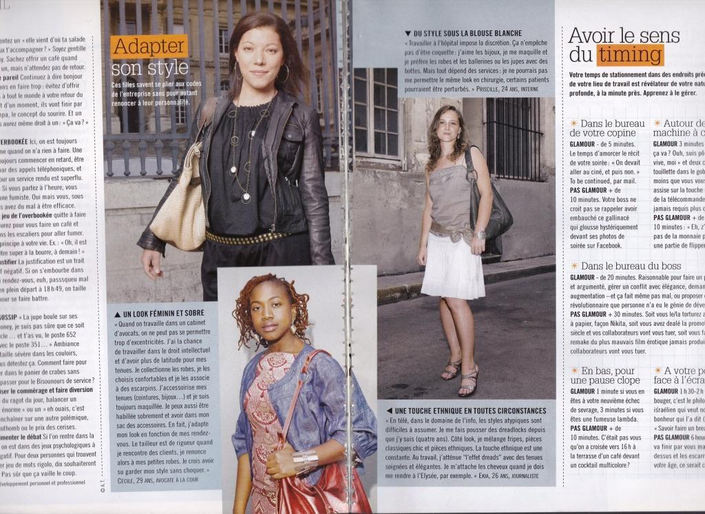 Miss Cotton parle de son style vestimentaire dans le magazine Glamour.